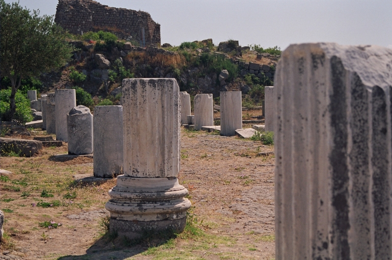 Broken columns, Greece