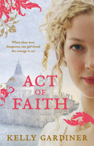Front cover, novel Act of Faith