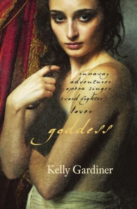 Image of book cover - Goddess, a book about Julie d'Aubigny