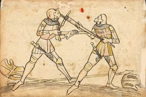Image of medieval sword bout