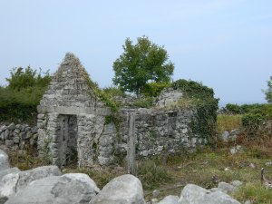 Deserted cottage on The Burren