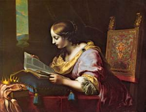Painting - St Catherine reading