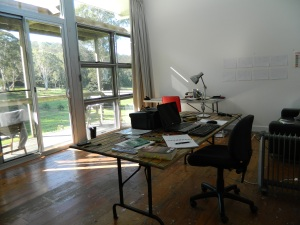 Image of studio at Bundanon
