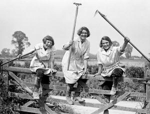 Yung women on a farm gate