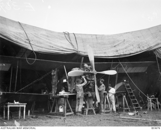 Mechanics from 3 Squadron AFC on the Western Front