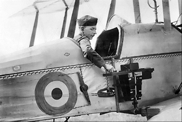 Aerial camera operated by the pilot.