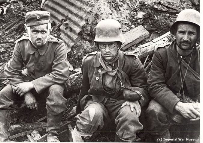 Shell-shocked German soldiers. Image: Imperial War Museum