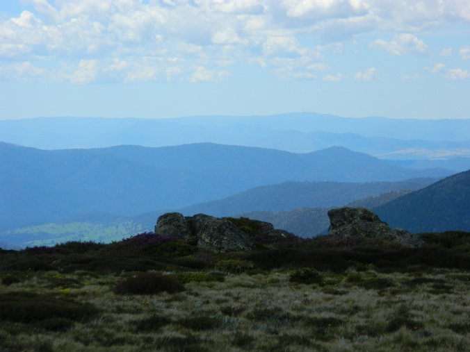 View of distant peaks