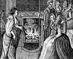 Engraving of Grace and Elizabeth