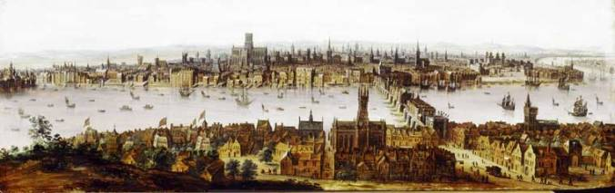 London from Southwark before the Fire