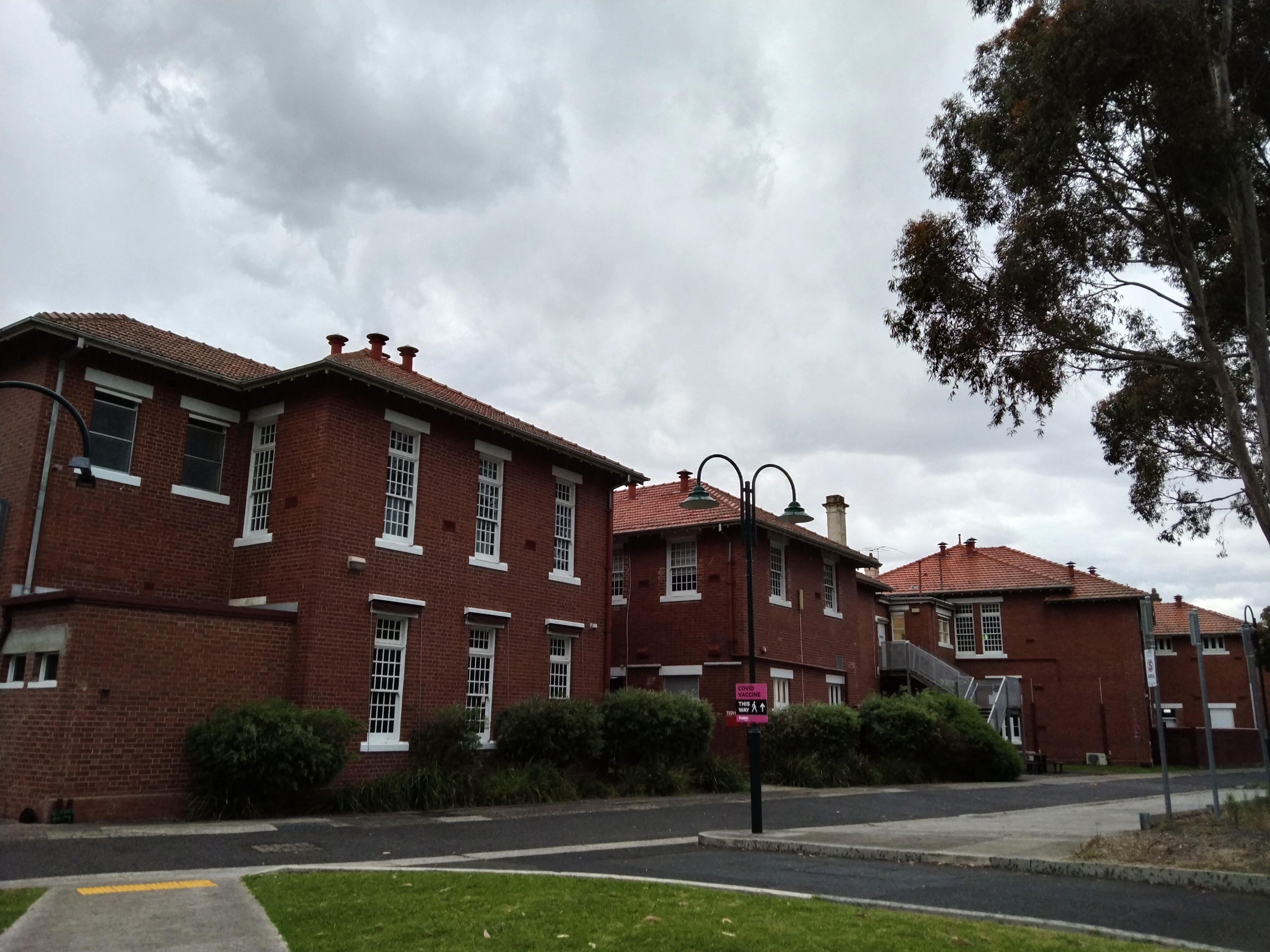 Old, handsome, red brick buildings